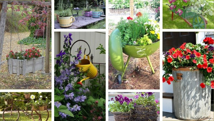 Special flower pots and boxes for a great garden: 40 DIY ideas for inspiration