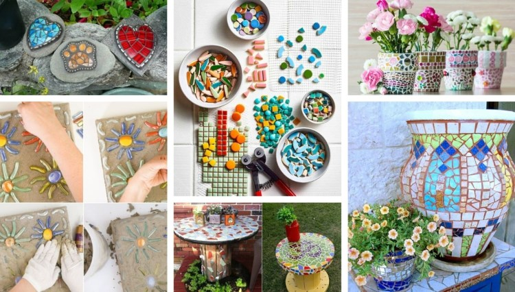 Make mosaic decoration for the garden – 22 amazing ideas of what you can design