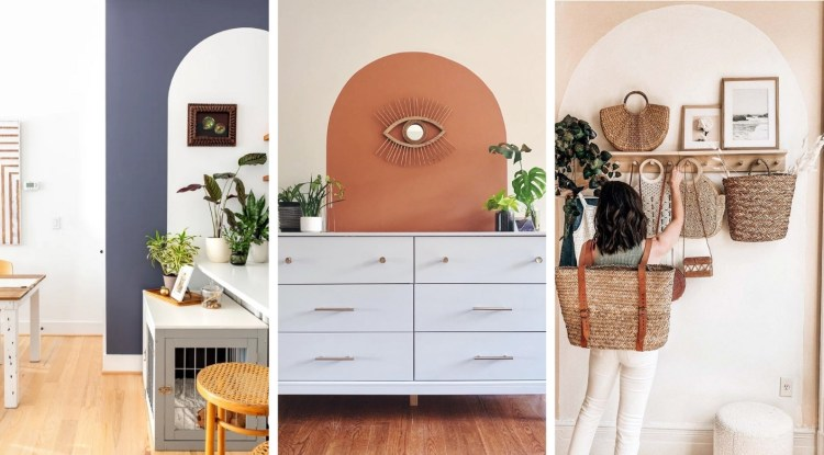 Painted arches: a cool way to bring a space in life