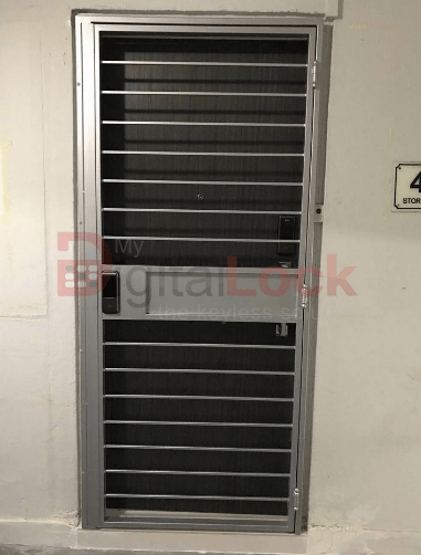 3. Single Leaf Straight Design HDB Mild Steel Gate copy