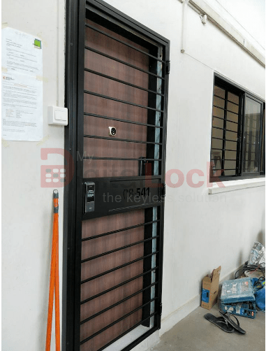 4. Single Leaf with Laser Cut Unit NUmber HDB Mild Steel Gate copy