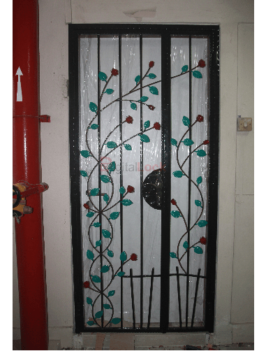9. Rose Wrought Iron HDB Gate copy