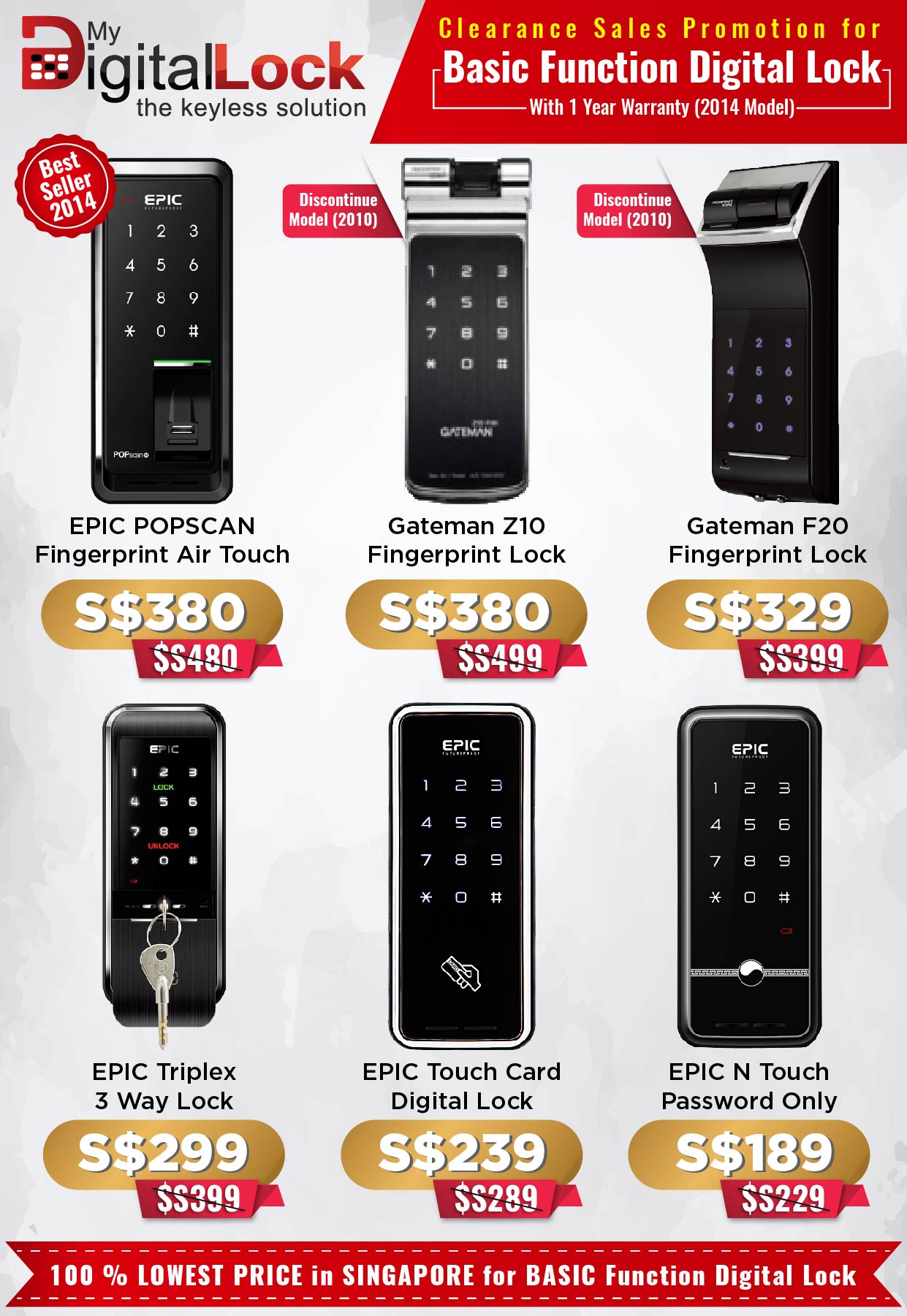 Clearance Sales Promotion for EPIC and Gateman