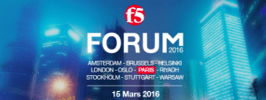 #IT - F5 FORUM 2016 - By F5 France @ PARIS Théatre Marigny  | Paris | Île-de-France | France