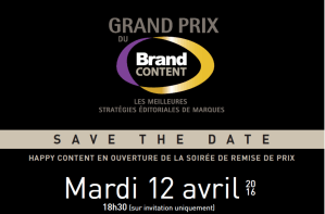 #MARKETING - Le Grand Prix du Brand Content - By Prache Media Evénement