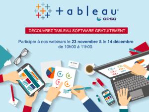 #FINANCE - Webinar prise en main : Tableau Software  - By OPSO @ ONLINE | Nantes | Pays de la Loire | France