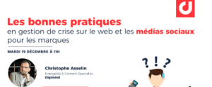 #MARKETING - WEBINAR - Les bonnes pratiques en gestion de crise - By DIGIMIND