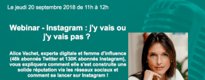 #MARKETING - #Webinar - INSTAGRAM : j'y vais j'y vais pas ? - by CISION