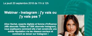 #MARKETING - #Webinar - INSTAGRAM : j'y vais j'y vais pas ?- by CISION