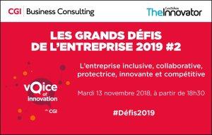 #INNOVATIONS  #Défis2019 - Les grands défis de l'entreprise 2019 - By Les Echos EVENTS & CGI Consulting @ Les Echos - Le Parisien  | Paris | Île-de-France | France