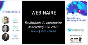 #MARKETING - Restitution du baromètre Marketing BtoB 2020 - By CMIT