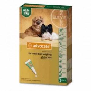 Advocate para perros de 1 a 4 kg