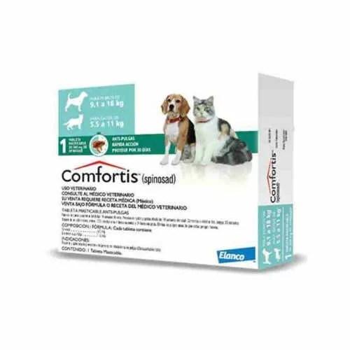 COMFORTIS 9.1 a 18 kg para Perros y 5.5 a 11 kg para Gato
