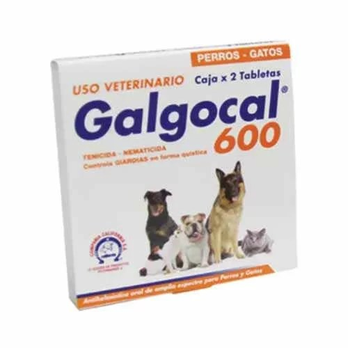 Galgocal 600 Desparasitante 2 tabletas