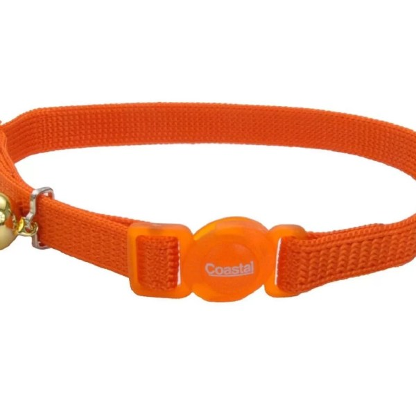 COASTAL Collar Gato Safe Naranja