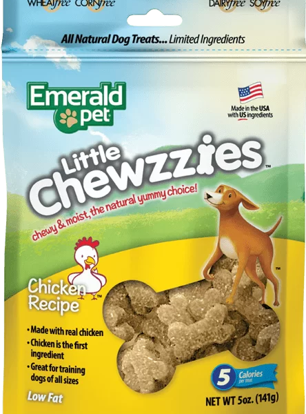 EMERALD PET DOG SNACK LITTLE CHEWZZIES - POLLO 5OZ