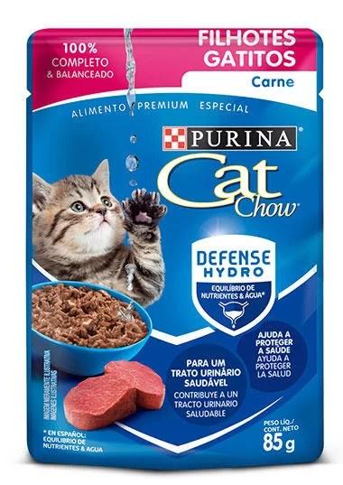 Cat Chow Pouch Gatitos Carne