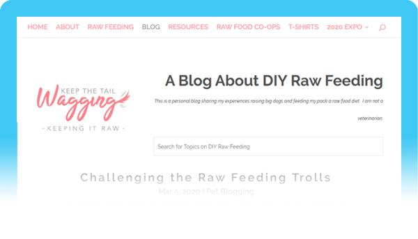 Best Dog Raw Feeding Blog:  Keep the Tail Wagging