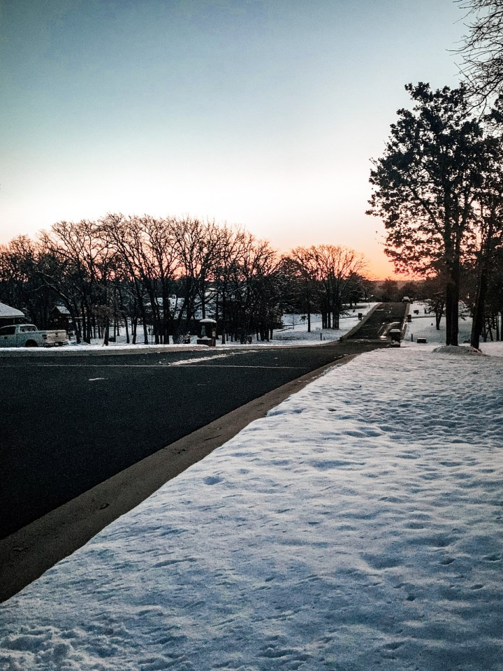 Sunset from my neighborhood in winter
