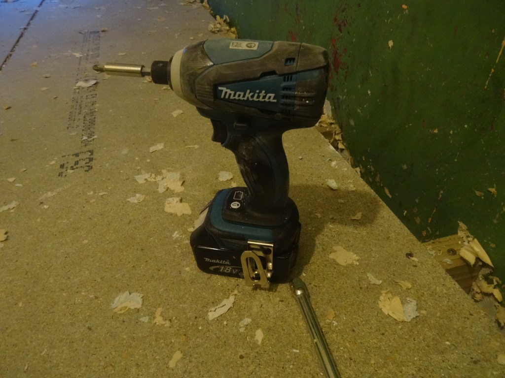 my Makita supersonic impact driver - - essential tools for property developers