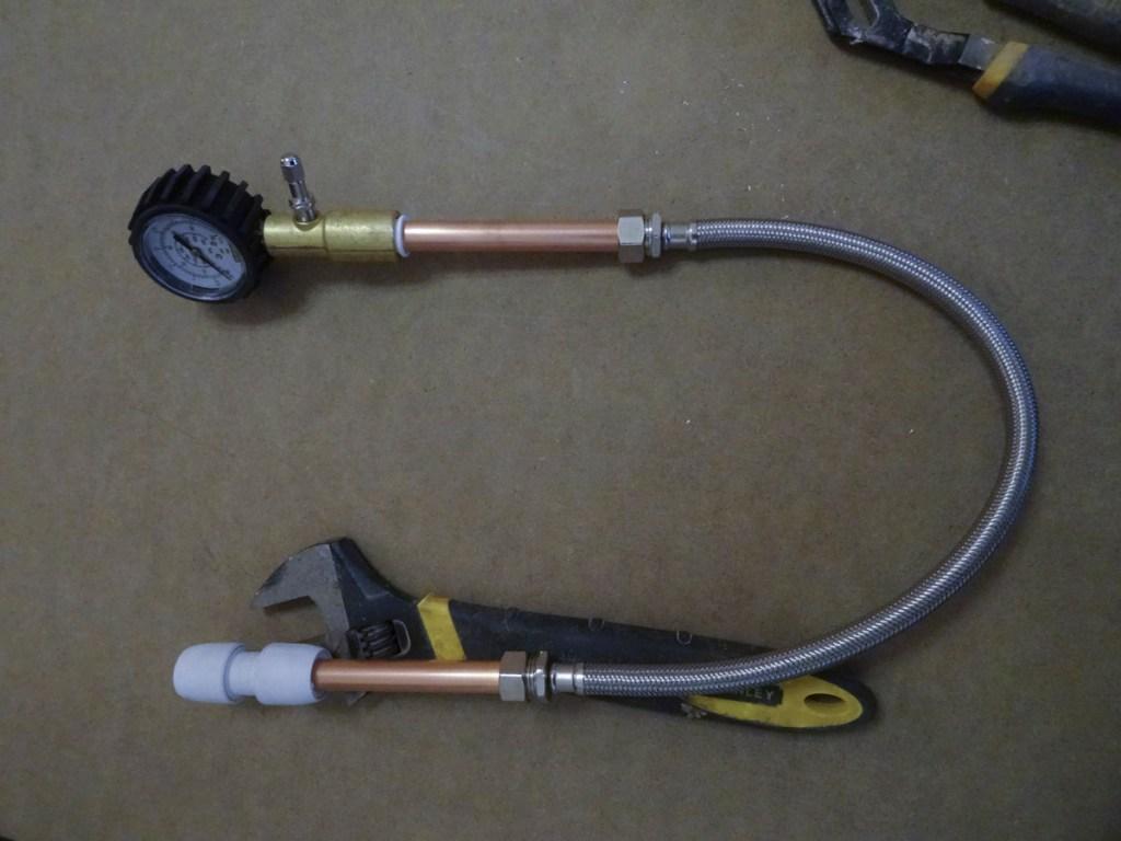 HEP20 straight coupler - DIY pipe testing tool