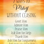 Prayers for the Week: Prayer, Prayer, and more Prayer