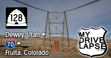 Utah into Colorado on Route 128, I-70 Dashcam to Fruita