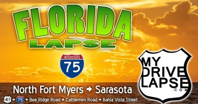 North Fort Myers to Sarasota: Interstate 75 Dashcam Florida