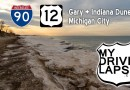 Scenic Drive from Gary to Indiana Dunes and Michigan City, Indiana: US 12