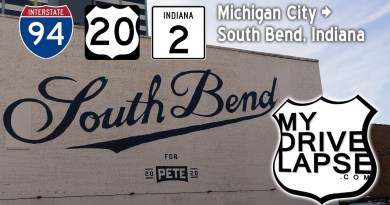 Michigan City to South Bend, Indiana: Interstate 94, US 20, Indiana 2 Dashcam