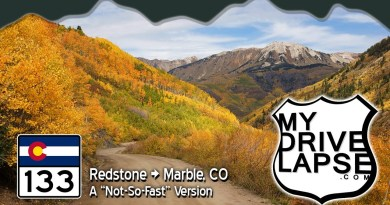 Drive to the town of Marble, Colorado at the Peak of Fall Colors! Real-time dashcam drive on CO 133
