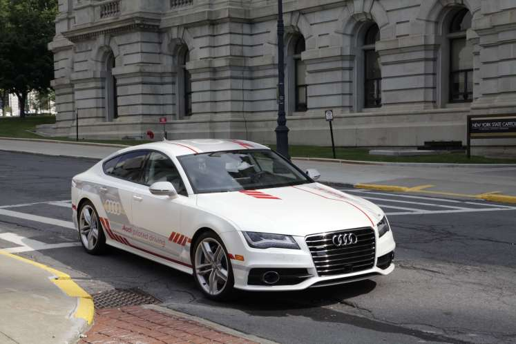 First automated vehicle in New York, an Audi, takes to capitol streets in technology demonstration