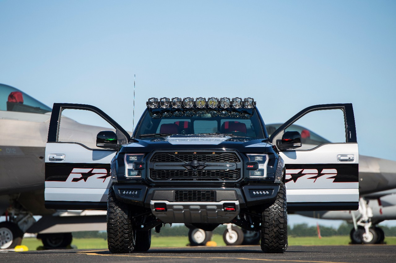 Mighty U.s. Air Force Fighter Jet Inspires One-of-a-kind High-performance Ford F-22 F-150 Raptor