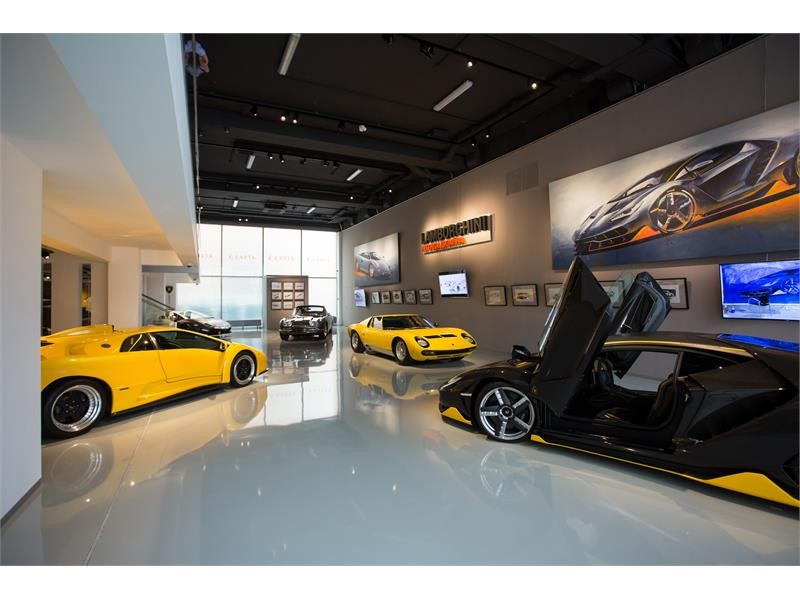 Lamborghini exhibition at Erarta Museum