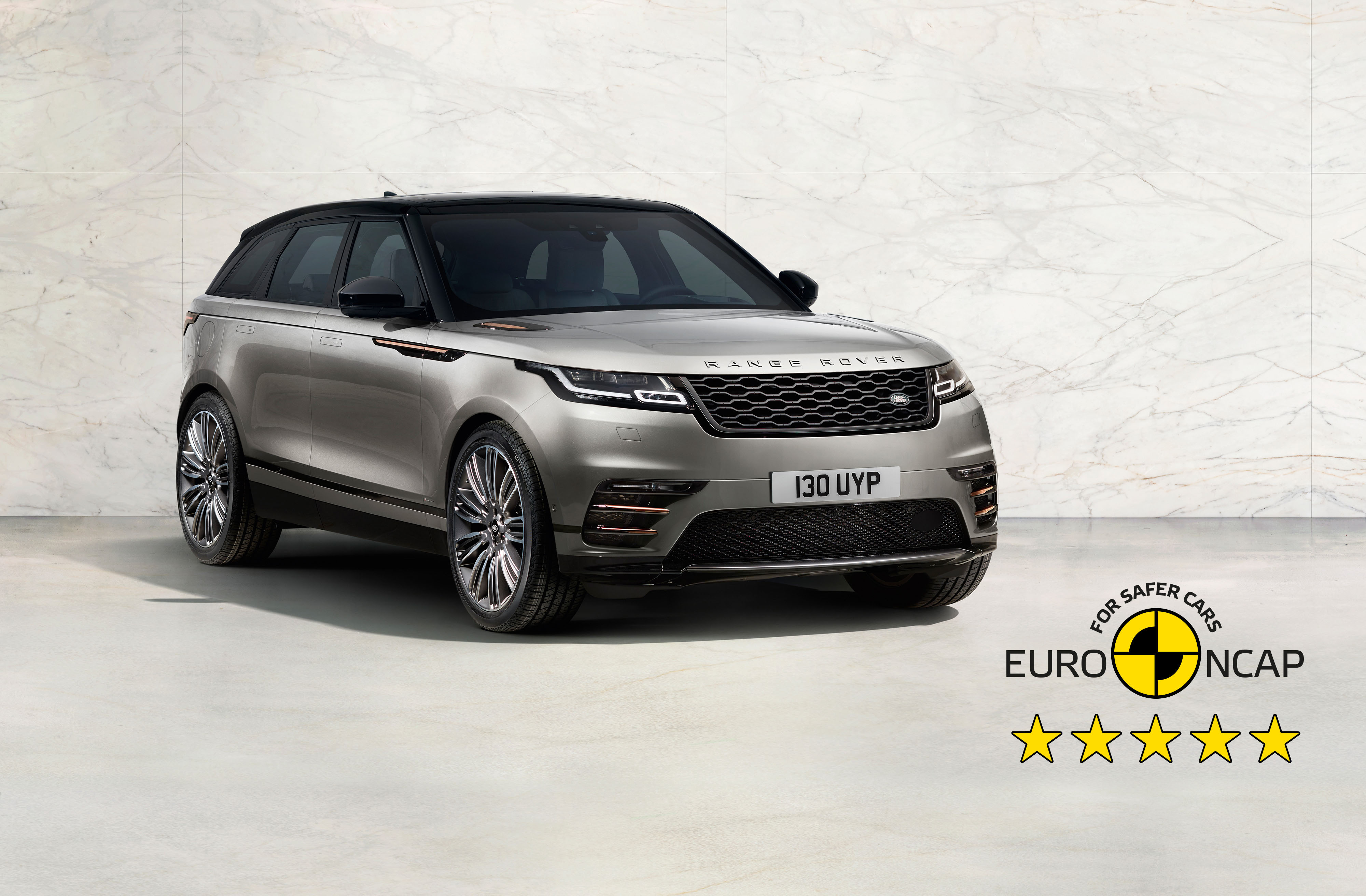 The Range Rover Velar has achieved a five-star Euro NCAP rating