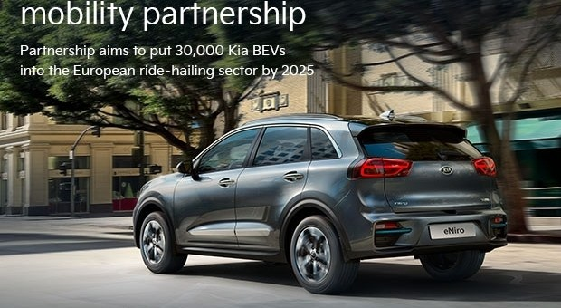 Kia Europe And Uber Announce Electric Mobility Partnership