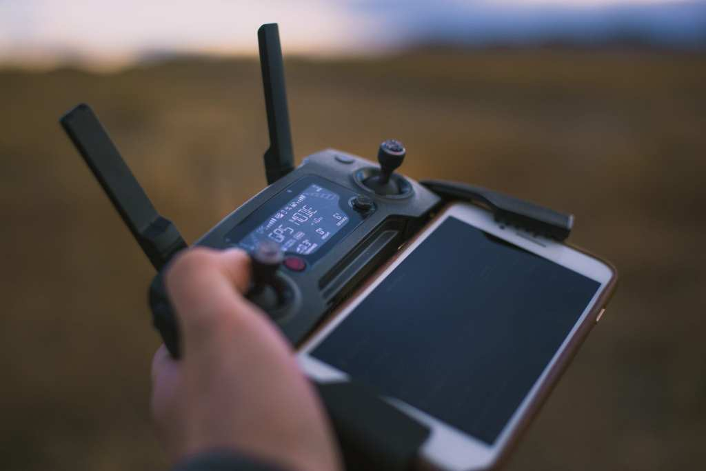 Drone with smartphone