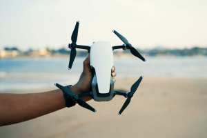 Holding Quadcopter