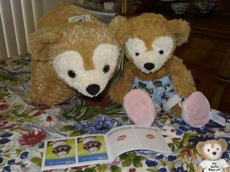 Pillow Pet Duffy Disney Bear and Little Joe read Dairy Queen coupon book