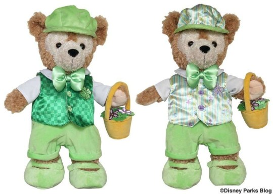 Duffy Disney Bear Outfits reversible Saint Patricks Day and Easter 2014 Outfit