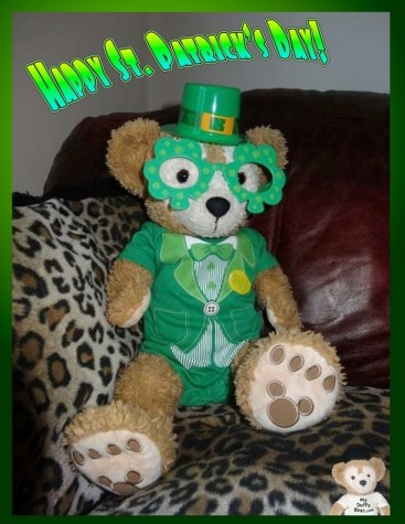 Duffy Disney Bear wishes you a Happy St Patrick's Day 2014