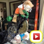 Duffy the Disney Bear performs the Hitachi Chop Saw Magic Trick with his pretty assistant, ShellieMay
