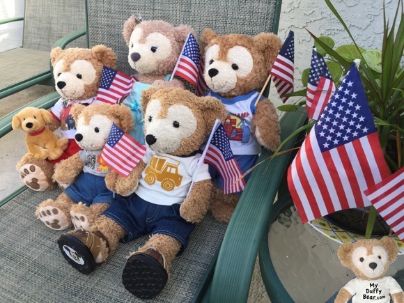 Duffy the Disney Bear wishes yous guys a Happy July 4th