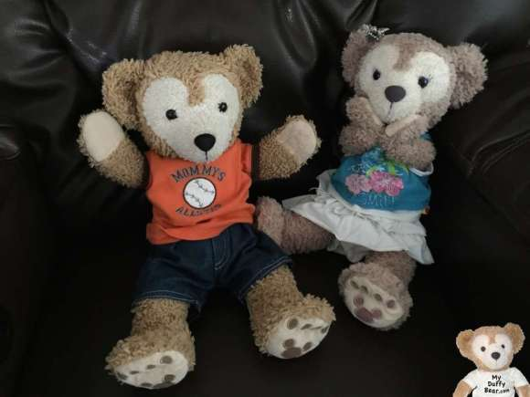 Duffy the Disney Bear jumped out of his fur when ShellieMay screamed at the thunder boomer
