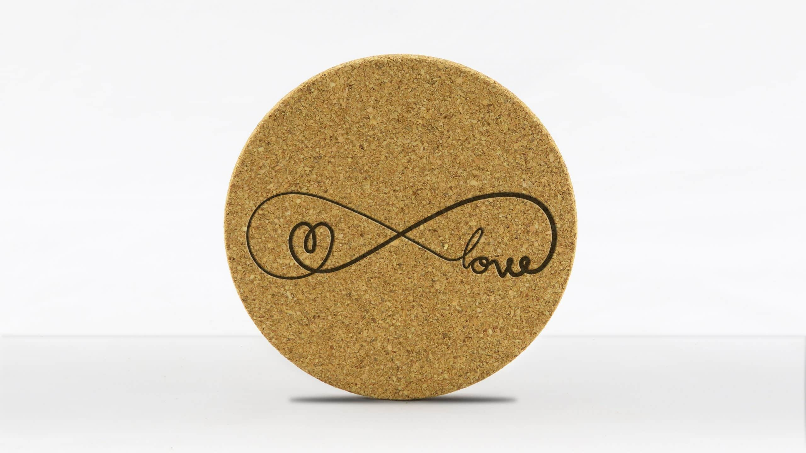 4in round coaster - Infinity - love-heart
