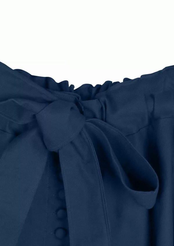 dark blue skirt made from organic and recycled cotton - waist