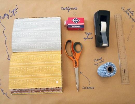 Diy sailboat placecards Materials