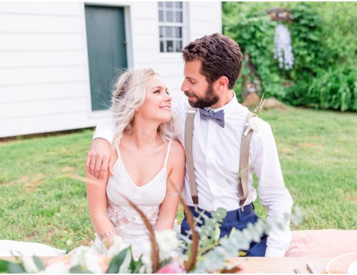 boho bride and groom style