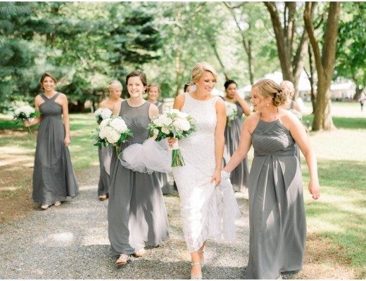 grey mismatched bridesmaid dresses