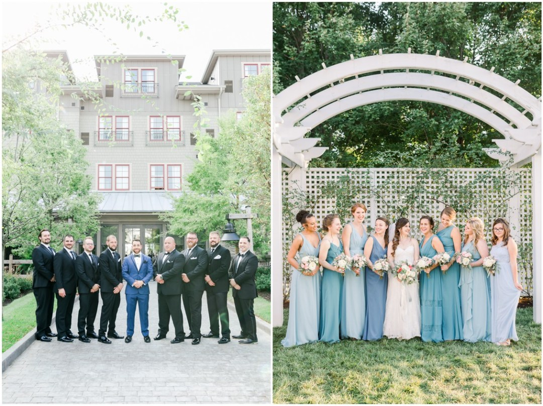 Groom with his groomsmen and the bride with her bridesmaids. | My Eastern Shore Wedding |